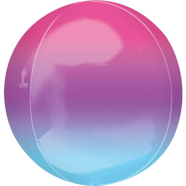 Ombre Purple & Blue Round Orbz 15in Balloon